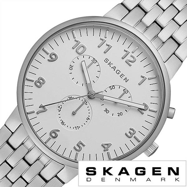 スカーゲン 腕時計[SKAGEN 時計]スカーゲン 時計[SKAGEN 腕時計]スカーゲン腕時計[SKAGEN時計]アンカー Ancher メンズ レディース シルバー SKW6231 [人気 新作 ブランド 防水 メタル ベルト 北欧 シンプル シルバー プレゼント ギフト][おしゃれ]