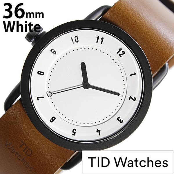 [当日出荷] ティッドウォッチ腕時計 TIDWatches時計 TID Watches 腕時計 ティッド ウォッチ 時計 TIDNo. 1 レディース ホワイト TID01-WH36-T [革 ベルト 正規品 おしゃれ 防水 替え 北欧 アナログ ブラウン ブラック ギフト プレゼント ご褒美 社会人] 誕生日