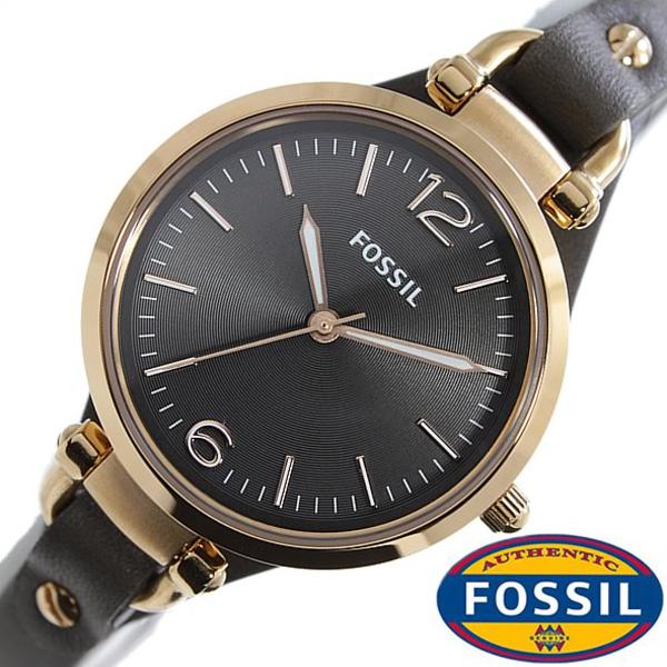 フォッシル腕時計 FOSSIL時計 FOSSIL 腕時計 フォッシル 時計 ジョージア GEORGIA レディース ブラック ES3077 [革 ベルト ファッション 人気 フォーマル グレー ローズ ゴールド スモーク おしゃれ ブランド プレゼント ギフト ]