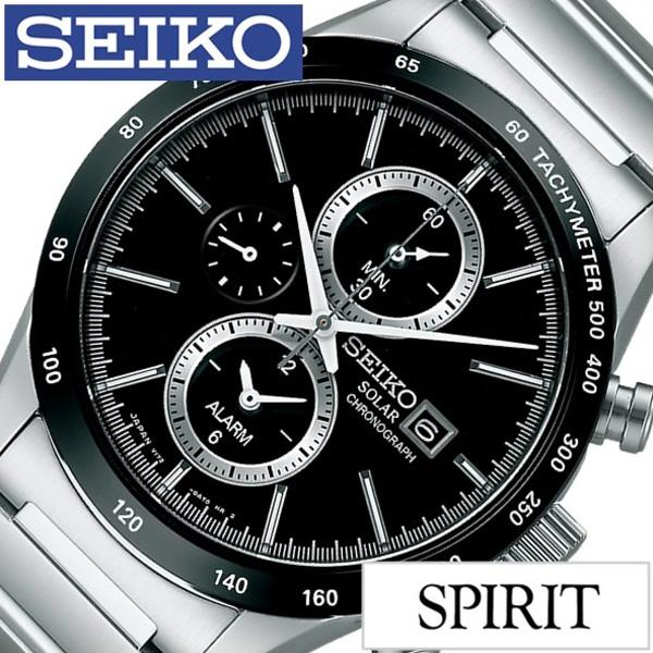 [当日出荷] セイコー腕時計 SEIKO時計 SEIKO 腕時計 セイコー 時計 スピリット スマート SPIRIT SMART メンズ ブラック SBPY119 [ (電池交換不要) ソーラー クロノグラフ 正規品 防水 シルバー ギフト プレゼント おしゃれ ]