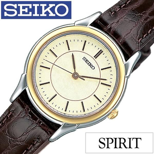セイコー腕時計 SEIKO時計 SEIKO 腕時計 セイコー 時計 スピリット SPIRIT レディース ゴールド STTC006 [革 ベルト 正規品 防水 ブラウン シルバー ゴールド][ギフト プレゼント ご褒美][おしゃれ ] 誕生日 冬ギフト