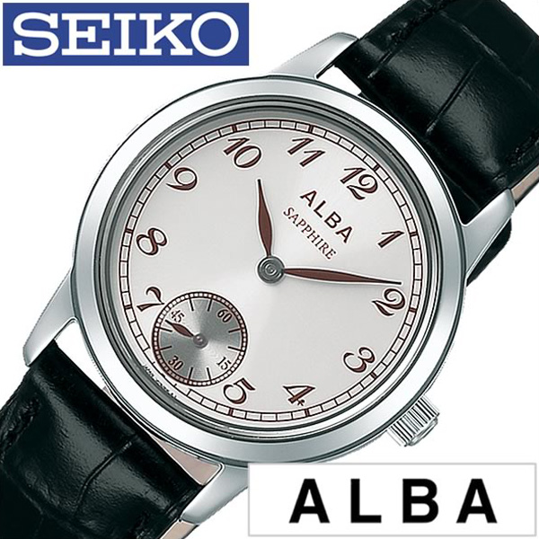 セイコーアルバ腕時計 [SEIKOALBA時計]( SEIKO ALBA 腕時計 セイコー アルバ 時計 ) レディース 腕時計 ブラック AQGT004 [人気 ブランド トレンド レザー ベルト 革 シンプル ペアウォッチ 記念日 シルバー おしゃれ ブランド プレゼント ギフト ]