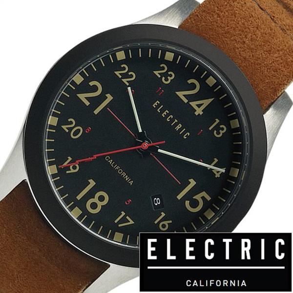 エレクトリック 腕時計 ELECTRIC時計 ELECTRIC 腕時計 エレクトリック 時計 FW01 NATO メンズ レディース ブラック FW1N3-BKBR[ 正規品 ブランド スエード レザー 革 アナログ ブラウン][ 入学式 最新 ブランド おしゃれ 防水 プレゼント ギフト ]