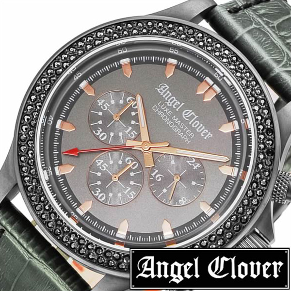 エンジェルクローバー 腕時計[AngelClover 時計]エンジェル クローバー 時計[Angel Clover 腕時計]リュクスマスター LUXE MASTER メンズ グレー LM46GMZ-GR [新作 防水 アナログ クロノグラフ 革 レザー ベルト グレー カーキ プレゼント ]