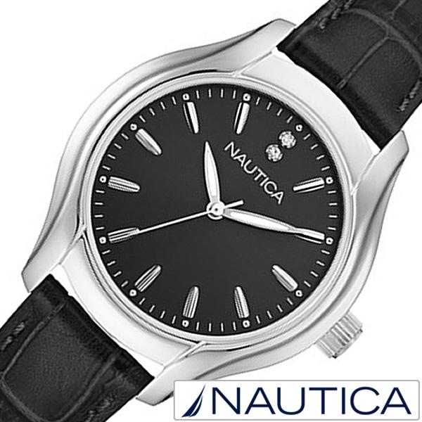 ノーティカ腕時計 NAUTICA時計 NAUTICA 腕時計 ノーティカ 時計 レディース ブラック NAI11003M [ 正規品 腕時計 ウォッチ 人気 新作 ブランド トレンド 革 レザー ベルト おしゃれ ブランド プレゼント ギフト ] 誕生日
