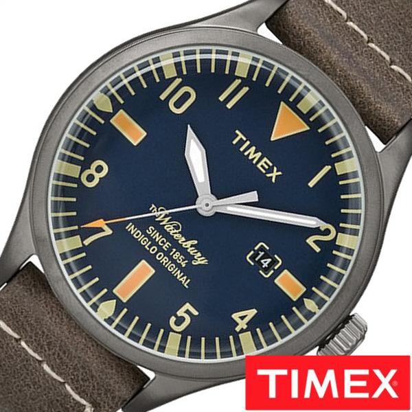 【SALE】(12%OFF) 割引 セール 安い タイメックス腕時計 TIMEX時計 TIMEX 腕時計 タイメックス 時計 ウォ-ターベリー エスビーフット レザー Waterbury S.B.Foot Leather メンズ TW2P83800 [正規品 革ベルト レザー ネイビー おしゃれ ブランド ] 誕生日