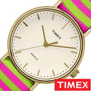 [あす楽]タイメックス腕時計 TIMEX時計 TIMEX 腕時計 タイメックス 時計 ウィークエンダー フェアフィールド Weekender Fairfield 37mm メンズ 白 TW2P91800[ 正規品 NATO ナトー ピンク グリーン ゴールド 縞 模様 おしゃれ ブランド ] 誕生日