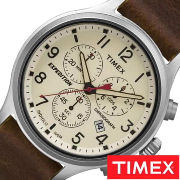 【SALE】(12%OFF) 割引 セール 安い タイメックス腕時計 TIMEX時計 TIMEX 腕時計 タイメックス 時計 スカウト クロノ Scout Chrono メンズ 白 TW4B04300 [ 正規品 革 ベルト 新品 ミリタリーテイスト シルバー ナチュラル おしゃれ ブランド ] 誕生日