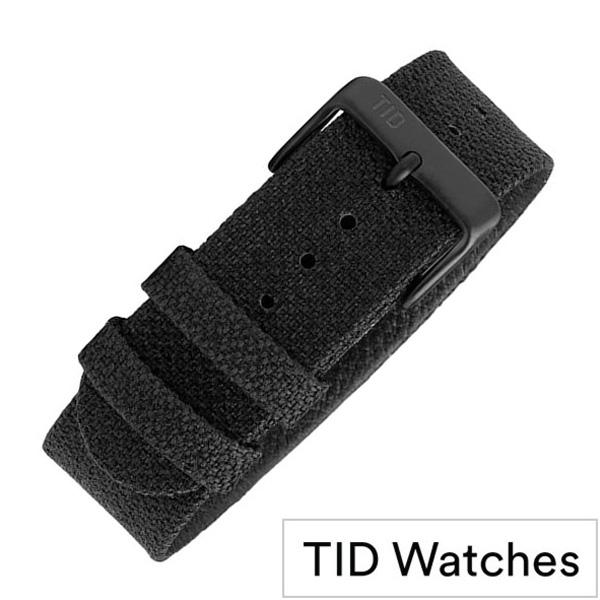 ティッドウォッチズ 時計ベルト[TIDWatches]ティッド ウォッチズ[TID Watches 腕時計ベルト]クヴァドラ Kvadrat Twain wristbands メンズ レディース TID-BELT-COAL[交換用 替えベルト 付け替え 交換 腕時計 革 レザー バンド ブランド プレゼント]