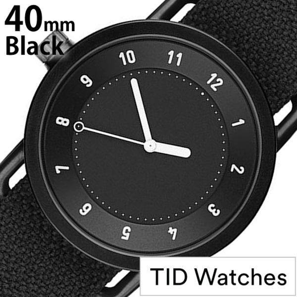 [当日出荷] ティッドウォッチズ 腕時計 メンズ レディース [TID watches] ブラック TID01-BK40-COAL [No.1 正規品 おしゃれ 北欧 シンプル 革 レザー バンド ブラック ギフト プレゼント ギフト おしゃれ腕時計 社会人] 誕生日