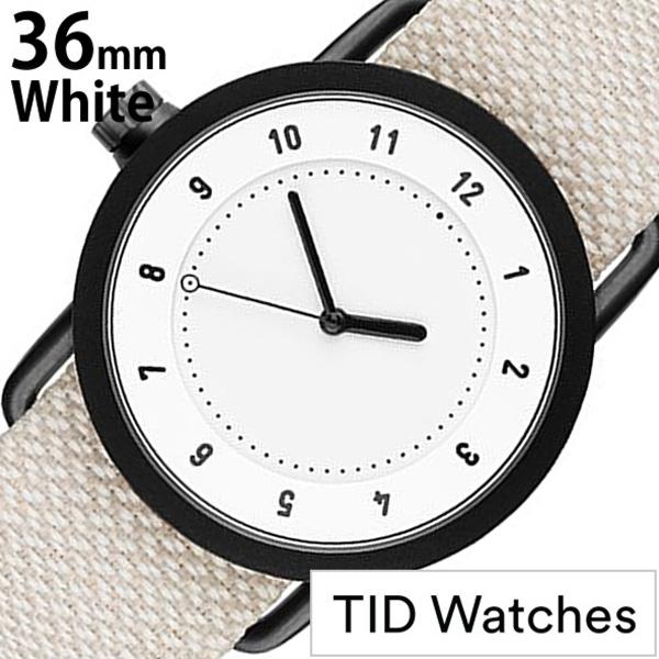 ティッドウォッチズ 腕時計 メンズ レディース 男女兼用 [TID watches] ホワイト TID01-WH36-SAND [No.1 正規品 おしゃれ 北欧 シンプル 革 レザー バンド ホワイト][ ギフト][プレゼント ギフト][おしゃれ腕時計][社会人]