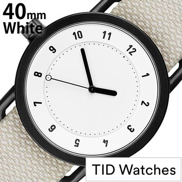 ティッドウォッチズ 腕時計 メンズ レディース 男女兼用 [TID watches] ホワイト TID01-WH40-SAND [No.1 正規品 おしゃれ 北欧 シンプル 革 レザー バンド ホワイト][ ギフト][プレゼント ギフト][おしゃれ腕時計][社会人]