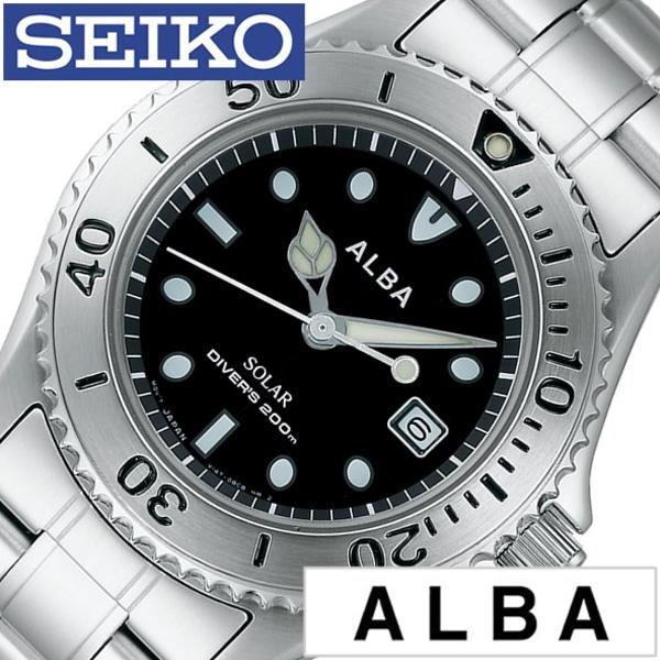 セイコー アルバ 腕時計[SEIKO ALBA 時計]セイコーアルバ 時計[SEIKOALBA 腕時計] セイコーアルバ時計[SEIKO ALBA腕時計]メンズ ブラック AEFD529 [メタル ベルト 正規品 ソーラー ダイバー ウォッチ シルバー シンプル][ プレゼント ギフト][新生活 卒業 社会人]