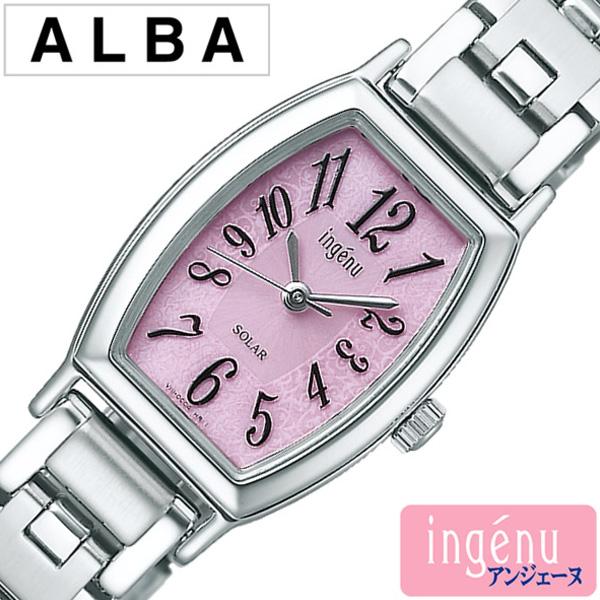 セイコー アルバ アンジェーヌ 腕時計 レディース (電池交換不要) ソーラー SEIKO ALBA ingene ピンク AHJD053 [メタル ベルト シンプル シルバー おしゃれ ブランド プレゼント ギフト ] 誕生日