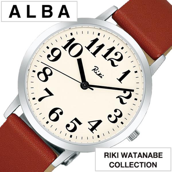 セイコー アルバ リキ ワタナベ コレクション 腕時計[SEIKO ALBA RIKI WATANABE 時計]セイコー アルバ リキワタナベ 時計[SEIKO ALBA RIKIWATANABE 腕時計] メンズ ホワイト AKPK402 [革ベルト 正規品 クォーツ ブラウン シルバー アイボリー アナログ]