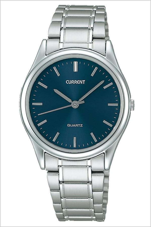 セイコー カレント 腕時計[SEIKO CURRENT 時計]セイコーカレント 時計[SEIKOCURRENT 腕時計]メンズ ブルー AXYN006 [メタル ベルト 正規品 クオーツ シルバー ネイビー シンプル スタンダード ギフト ラッピング][プレゼント 人気][おしゃれ 腕時計]