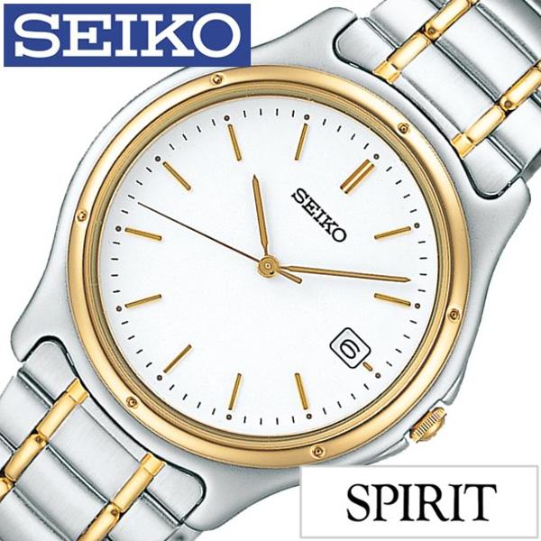 セイコー スピリット 腕時計[SEIKO SPIRIT 時計]セイコースピリット 時計[SEIKOSPIRIT 腕時計]セイコー スピリット時計[SEIKO SPIRIT時計]メンズ ホワイト SCXA026 [スピリッツ シルバー ペア ウォッチ ゴールド] 誕生日