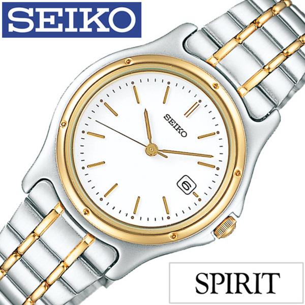 セイコー スピリット 腕時計[SEIKO SPIRIT 時計]セイコースピリット 時計[SEIKOSPIRIT 腕時計]セイコー スピリット時計[SEIKO SPIRIT時計]レディース ホワイト SSXV026 [スピリッツ メタル ベルト シルバー ペア ウォッチ ゴールド ギフト][ プレゼント ギフト]