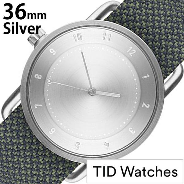 [当日出荷] ティッドウォッチズ 腕時計 メンズ レディース [TID watches] シルバー TID01-SV36-PINE [No.1 正規品 おしゃれ 北欧 アナログ 革 レザー バンド Pine 松 ホワイト ギフト プレゼント ギフト おしゃれ腕時計 社会人] 誕生日