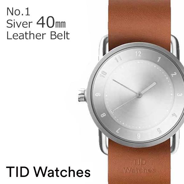 ティッドウォッチズ 腕時計 メンズ レディース 男女兼用 [TID watches] シルバー TID01-SV40-T [No.1 正規品 おしゃれ 北欧 アナログ 革 レザー バンド TAN タン][ ギフト][プレゼント ギフト][おしゃれ腕時計][社会人]