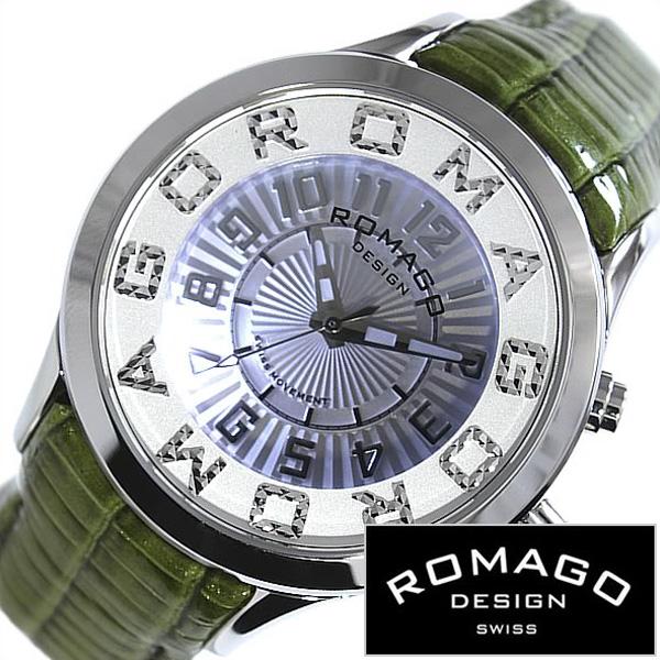 [当日出荷] ロマゴデザイン腕時計 ROMAGODESIGN時計 ROMAGO DESIGN 腕時計 ロマゴ デザイン 時計 アトラクション ATTRACTION メンズ レディース グレー RM067-0162ST-GR[人気 流行 ブランド 防水 レザー 革 グリーン シルバー おしゃれ ブランド プレゼント ギフト ]