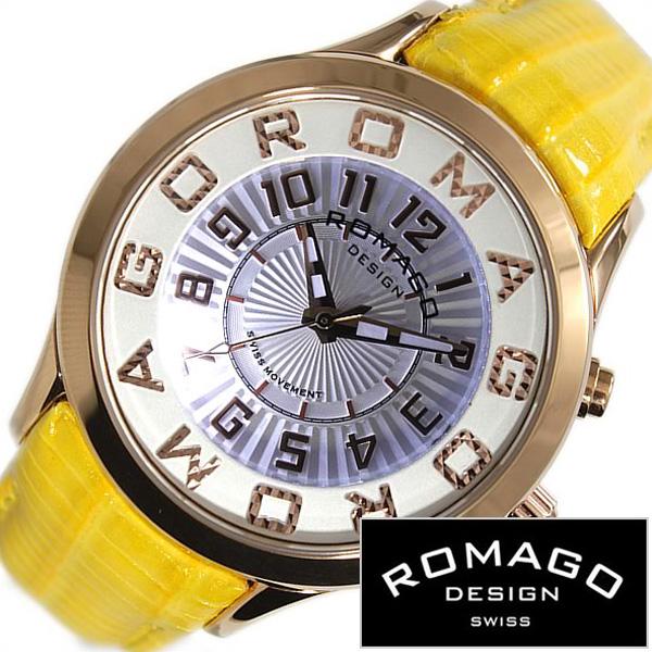 [当日出荷] ロマゴデザイン腕時計 ROMAGODESIGN時計 ROMAGO DESIGN 腕時計 ロマゴ デザイン 時計 アトラクション ATTRACTION メンズ レディース グレー RM067-0162ST-YE[人気 流行 ブランド 防水 レザー 革 ピンクゴールド イエロー おしゃれ ブランド プレゼント ]