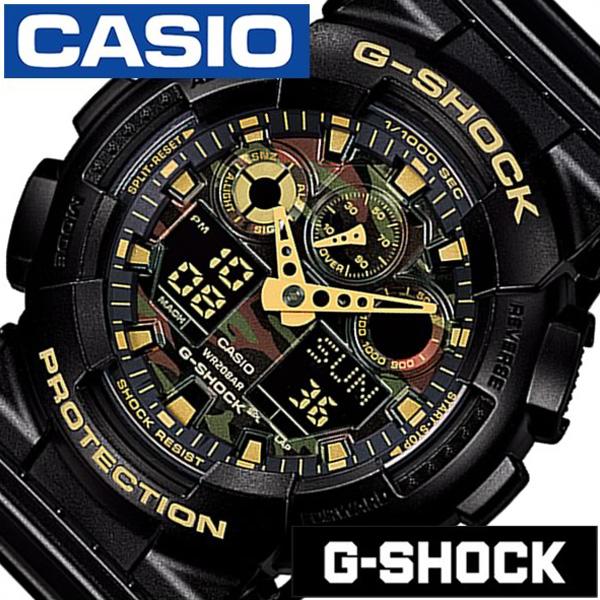 [当日出荷] カシオ 腕時計 [CASIO時計]( CASIO 腕時計 カシオ 時計 ) Gショック ( G-SHOCK ) メンズ 腕時計 ブラック GA-100CF-1A9JF [アナデジ デジタル 正規品 防水 液晶 ストップ ウォッチ ブラック ゴールド おしゃれ ブランド ]