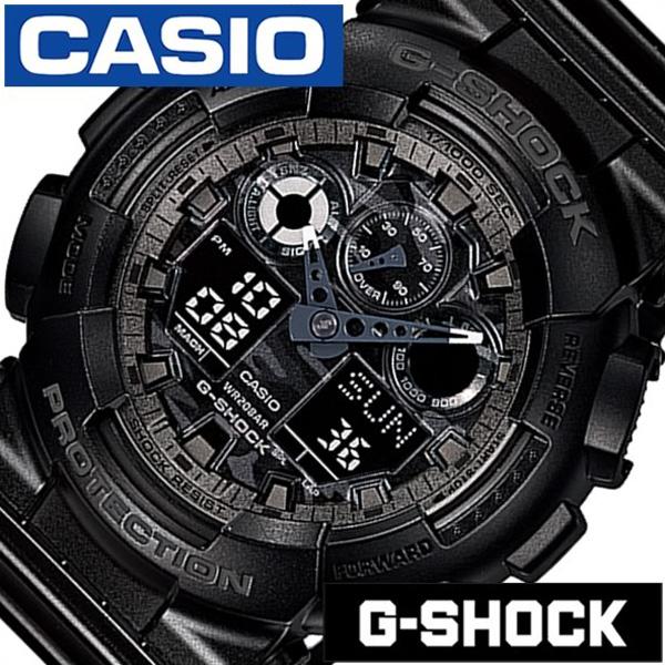 カシオ 腕時計 [CASIO時計]( CASIO 腕時計 カシオ 時計 ) Gショック ( G-SHOCK ) メンズ 腕時計 ブラック GA-100CF-1AJF [アナデジ デジタル クオーツ 正規品 防水 液晶 ストップ ウォッチ オールブラック おしゃれ ブランド プレゼント ギフト ]