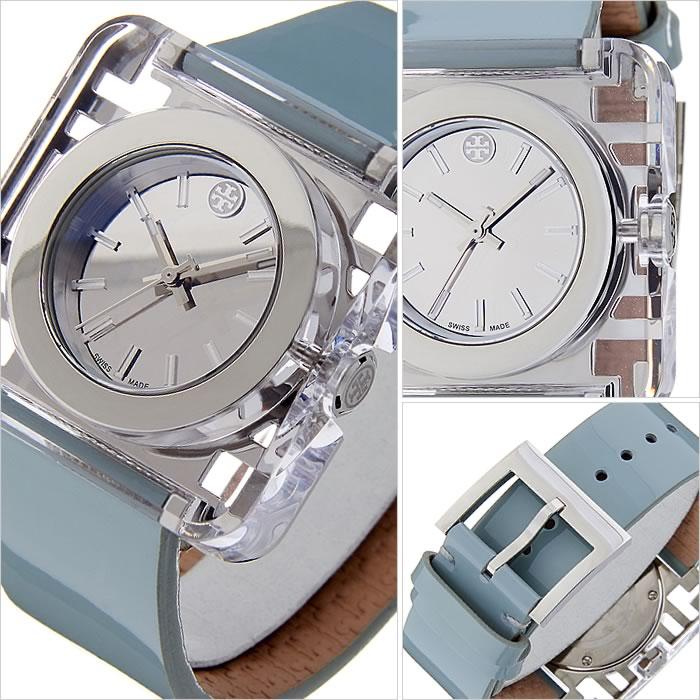 トリーバーチ 腕時計 [TORYBURCH時計]( TORYBURCH 腕時計 トリーバーチ 時計 ) ( IZZIE ) レディース 腕時計 シルバー TRB3004 [革 ベルト ライト ブルー ブレスレット クリスタル ストーン アクセサリー デザイン][ おしゃれ 防水 プレゼント ギフト ]