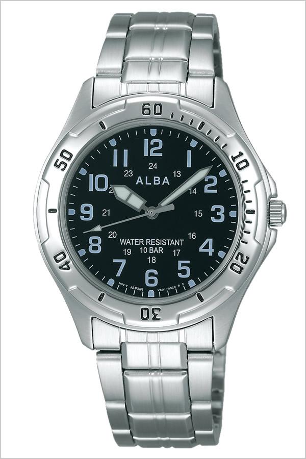 セイコーアルバ 腕時計 [SEIKOALBA時計]( SEIKO ALBA 腕時計 セイコー アルバ 時計 ) メンズ 腕時計 ブラック AQPS003 [メタル ベルト 正規品 防水 クォーツ アナログ スタンダード シルバー おしゃれ ブランド プレゼント ギフト ]