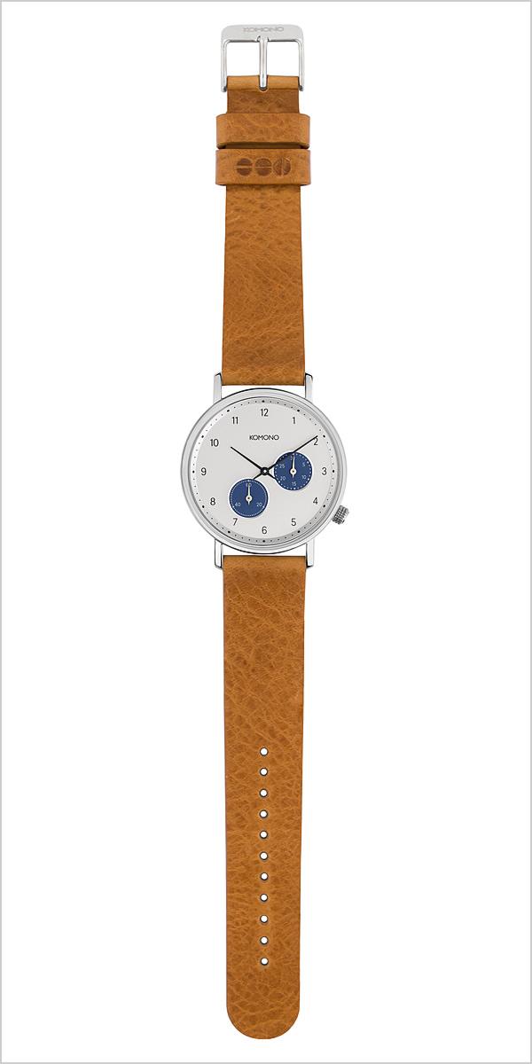 コモノ 腕時計 [KOMONO時計]( KOMONO 腕時計 コモノ 時計 ) クラフテッド ワルサー キャメル ( crafted WALTHER CAMEL ) 腕時計 ホワイト KOM-W4000 [ 正規品 人気 ブランド トレンド 革 ベルト レザー インスタ シンプル ブラウン シルバー]