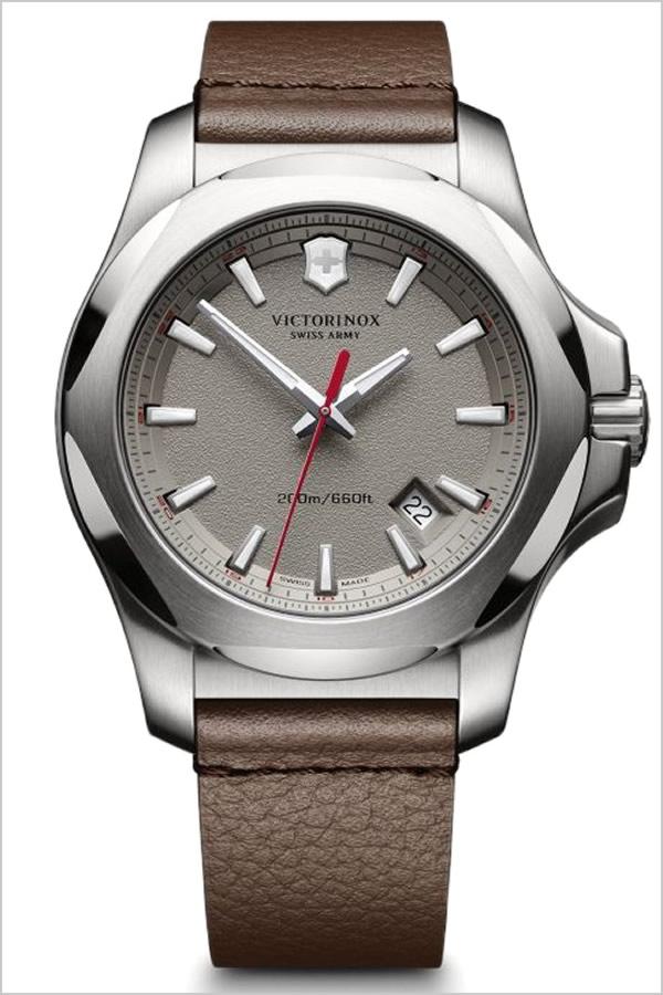 ビクトリノックス 腕時計 [VICTORINOX時計]( VICTORINOX SWISSARMY 腕時計 ビクトリノックス スイスアーミー 時計 ) イノックス レザー 腕時計 グレー VIC-241738 [ 正規品 ブランド レザー ベルト 革 防水 ミリタリー ブラウン INOX][ プレゼント ギフト]