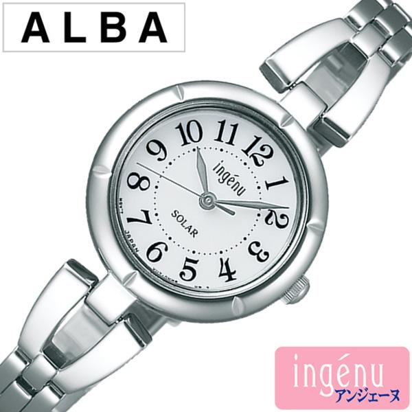 セイコーアルバ 腕時計 レディース (電池交換不要) ソーラー SEIKOALBA時計 SEIKO ALBA腕時計 セイコー アルバ時計 アンジェーヌ ingene ホワイト AHJD095 [メタル ベルト 正規品 シルバー おしゃれ 防水 プレゼント ギフト ] 誕生日