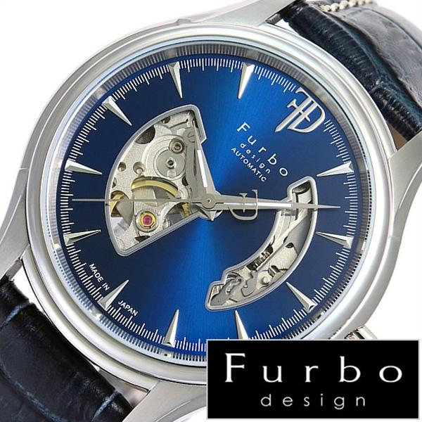 フルボデザイン 腕時計 [Furbodesign時計]( Furbo design 腕時計 フルボ デザイン 時計 ) メンズ 腕時計 ブルー F5025NBLBL [革 ベルト 正規品 機械式 自動巻 メカニカル オートマチック オープンハート ネイビー シルバー][プレゼント おしゃれ ブランド ]