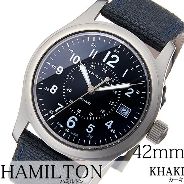 ハミルトン腕時計 HAMILTON時計 HAMILTON 腕時計 ハミルトン 時計 カーキ フィールド KHAKI FIELD メンズ ネイビー H68201943 [新作 高級 トレンド 防水 ブランド レザー ベルト 革 おすすめ ギフト プレゼント ][おしゃれ 腕時計]