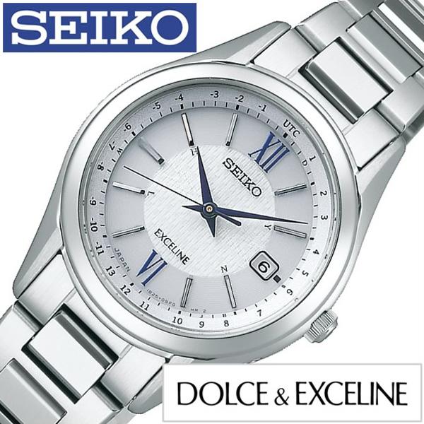 セイコー腕時計 SEIKO時計 SEIKO 腕時計 セイコー 時計 ドルチェ エクセリーヌ DOLCE EXCELINE レディース シルバー SWCW115正規品 流行 ブランド ソーラー電波時計 防水 メタル ベルト ギフト プレゼント おしゃれ 腕時計dCtsrxhQ