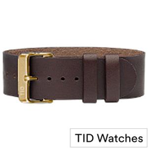 ティッドウォッチ 腕時計 替えベルト[TIDWatchesベルト]( TID Watches 腕時計 替えベルト ティッド ウォッチ ) メンズ レディース TID-BELT-GD-W[革 正規品 防水 北欧 ダーク ブラウン ゴールド WALNUT ウォルナット プレゼント ギフト][ おしゃれ ブランド ]