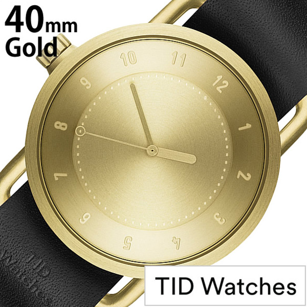 ティッドウォッチ 腕時計 [TIDWatches時計]( TID Watches 腕時計 ティッド ウォッチ 時計 ) ( TIDNo. 1 ) メンズ レディース 腕時計 ゴールド TID01-GD40-BK [革 ベルト おしゃれ 正規品 防水 No.1 北欧 アナログ BLACK ブラック][ ギフト][社会人]