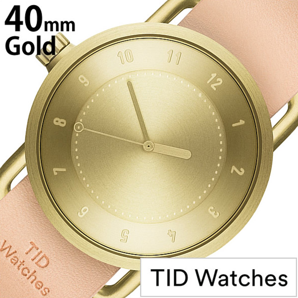 【SALE】(6000円引き) 割引 セール 安い ティッドウォッチ 腕時計 [TIDWatches時計]( TID Watches 腕時計 ティッド ウォッチ 時計 ) ( TIDNo. 1 ) メンズ レディース 腕時計 ゴールド TID01-GD40-N 革ベルト おしゃれ 防水 北欧 アナログ ベージュ ナチュラル ギフト