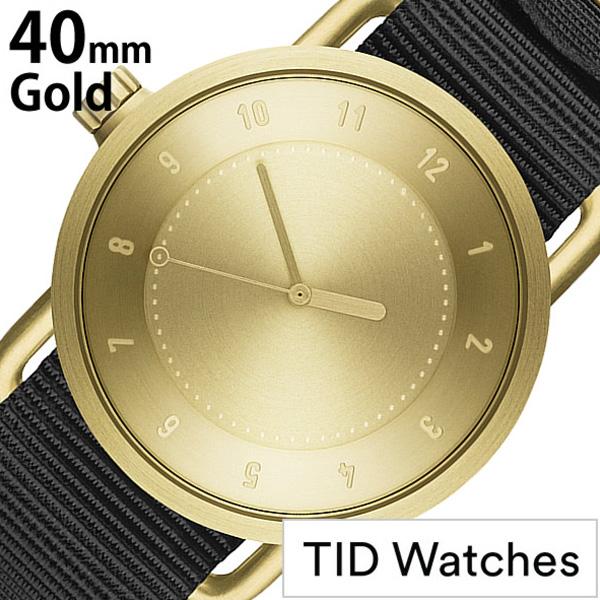 ティッドウォッチ 腕時計 [TIDWatches時計]( TID Watches 腕時計 ティッド ウォッチ 時計 ) ( TIDNo. 1 ) メンズ レディース 腕時計 ゴールド TID01-GD40-NBK [NATO ベルト おしゃれ 正規品 防水 No.1 北欧 アナログ ナトー ブラック NYLON ナイロン][社会人]