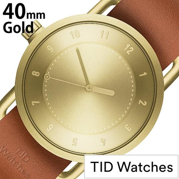 【SALE】(7800円引き) 割引 セール 安い ティッドウォッチ 腕時計 [TIDWatches時計]( TID Watches 腕時計 ティッド ウォッチ 時計 ) ( TIDNo. 1 ) メンズ レディース 腕時計 ゴールド TID01-GD40-T [革ベルト おしゃれ 防水 北欧 アナログ ブラウン ギフト 社会人]