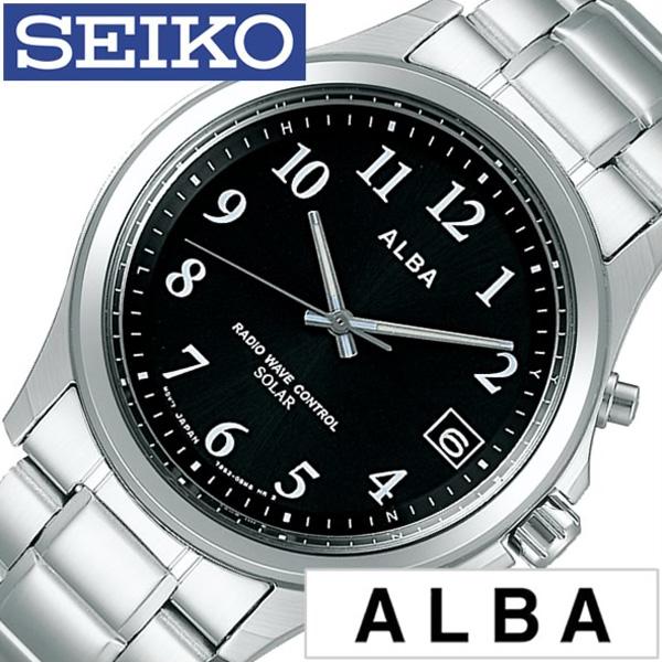 セイコー腕時計 SEIKO時計 SEIKO 腕時計 セイコー 時計 アルバ ALBA ブラック AEFY501 [人気 正規品 ブランド おすすめ 電波(電池交換不要) ソーラー (電池交換不要) ソーラー 電波修正 メタル ベルト シルバー おしゃれ ] 誕生日