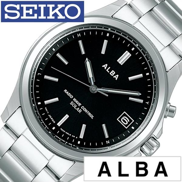 セイコー腕時計 SEIKO時計 SEIKO 腕時計 セイコー 時計 アルバ ALBA メンズ レディース ブラック AEFY502 [新作 人気 正規品 ブランド おすすめ オススメ 防水 電波ソーラー 防水 ソーラー 電波修正 メタル ベルト シルバー][おしゃれ 腕時計]