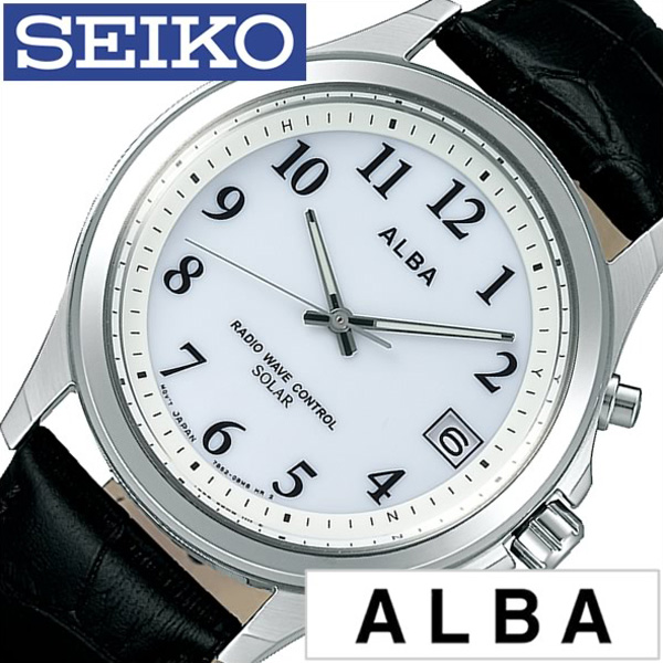 セイコー腕時計 SEIKO時計 SEIKO 腕時計 セイコー 時計 アルバ ALBA メンズ レディース ブルー AEFY506 [新作 人気 正規品 ブランド おすすめ オススメ 防水 電波ソーラー 防水 ソーラー 電波修正 革 レザー ベルト シルバー][おしゃれ 腕時計]
