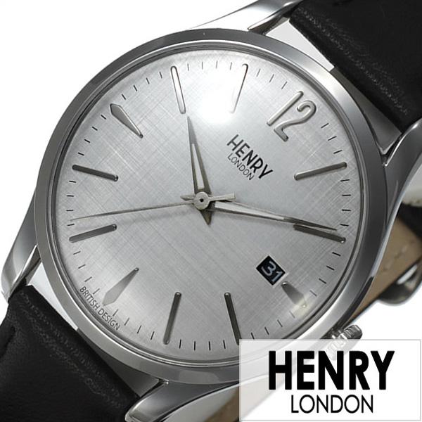 ヘンリーロンドン 腕時計 HENRYLONDON時計 HENRY LONDON 腕時計 ヘンリー ロンドン 時計 ピカデリー PICCADILLY メンズ レディース グレー HL39-S-0075[ ペアウォッチ 新作 ブランド イギリス シンプル 革 レザー ブラック プレゼント ギフト ]