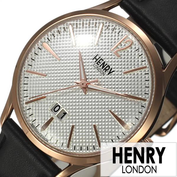 ヘンリーロンドン 腕時計 HENRYLONDON時計 HENRY LONDON 腕時計 ヘンリー ロンドン 時計 リッチモンド RICHMOND メンズ レディース 白 HL41-JS-0038[ ペアウォッチ 人気 ブランド イギリス シンプル 革 レザー ブラック ピンクゴールド プレゼント ギフト ]