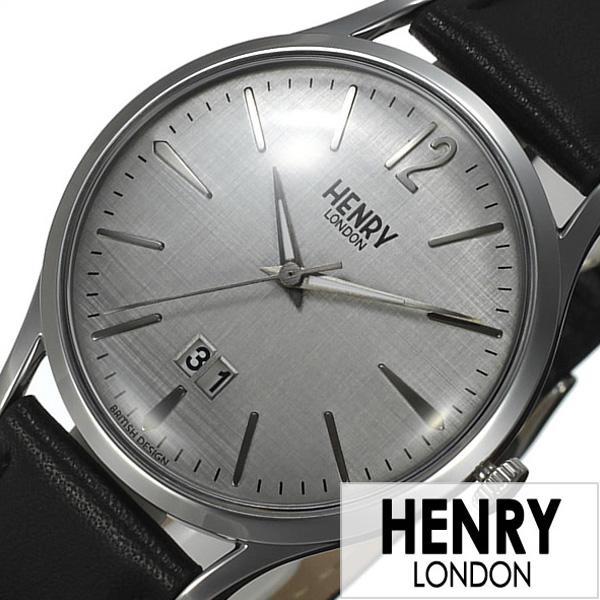 ヘンリーロンドン 腕時計 HENRYLONDON時計 HENRY LONDON 腕時計 ヘンリー ロンドン 時計 ピカデリー PICCADILLY メンズ レディース グレー HL41-JS-0081[ ペアウォッチ ブランド シンプル 革 レザー ブラック シルバー プレゼント ]