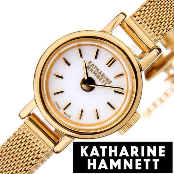 キャサリンハムネット腕時計 KATHARINE HAMNETT 腕時計 キャサリン ハムネット 時計 スモール ラウンド レディース ホワイト KH7811-B04R [ 正規品 人気 新作 ブランド トレンド おすすめ 高級 イギリス 女性 アンティーク ファッション メタル ベルト]