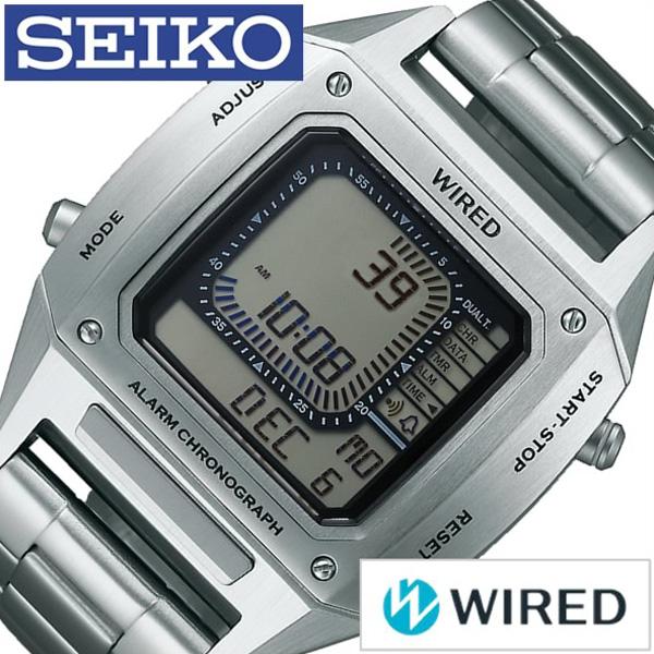 セイコー腕時計 SEIKO時計 SEIKO 腕時計 セイコー 時計 ワイアード マスコミモデル WIRED メンズ グレー AGAM401 [新作 人気 正規品 ブランド 防水 デジタル ワイヤード メタル シルバー][おしゃれ 腕時計]