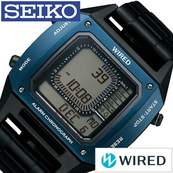 [当日出荷] セイコー腕時計 SEIKO時計 SEIKO 腕時計 セイコー 時計 ワイアード BASEL限定モデル WIRED メンズ グレー AGAM701 [新作 人気 正規品 ブランド 防水 デジタル ワイヤード メタル ブラック おしゃれ ] 誕生日